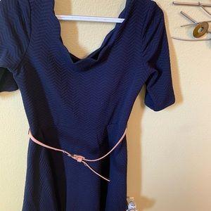 City Studio navy dress